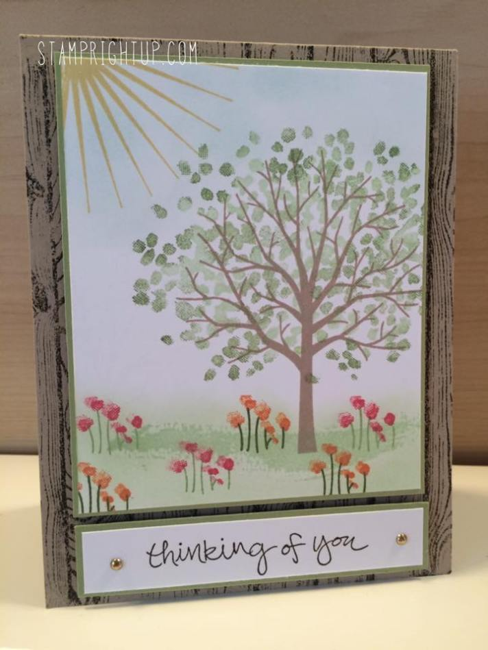 Stamp Right Up Sheltering Tree Tutorial Video